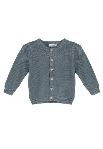 NAME IT blue Neo Long Sleeves Knit Cardigan B7BACKAC9955C5GS_1