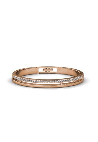 Her Jewellery gold Swarovski® Crystals - Elegant Bangle (Rose Gold) - (18K Rose Gold Plated) Her Jewellery HE581AC0RDOLMY_1
