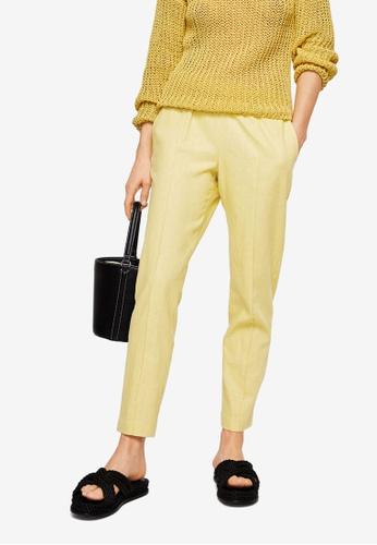 Mango yellow Straight Linen-Blend Trousers 7F1D4AAF035556GS_1