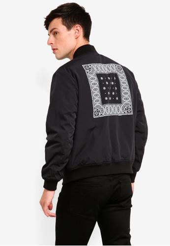 Calvin Klein 黑色 Reversible Bandana Bomber Jacket - Calvin Klein Jeans 8B0C6AA8D578CCGS_1