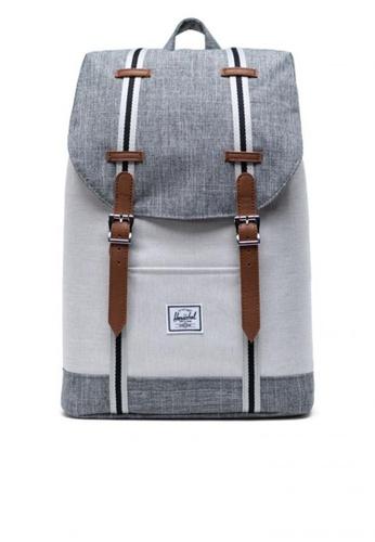 Herschel grey Backpack Retreat Mid Raven Crosshatch AE4B4AC740268DGS_1