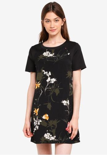 Something Borrowed black Raglan Sleeved Mini Dress 564CFAAE10034FGS_1