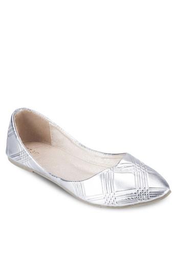 亮面壓紋平底鞋esprit台灣網頁, 女鞋, 芭蕾平底鞋