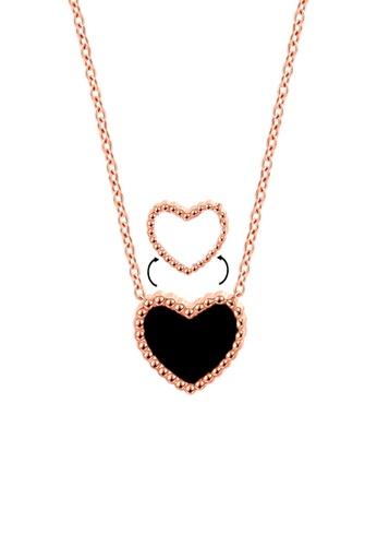 CELOVIS black and white and gold CELOVIS - Esme Black & White Reversible Pendant Necklace 2E42DAC9FE1827GS_1