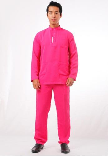 KAMDAR pink Afeef Baju Melayu 93470AAC98A8F2GS_1