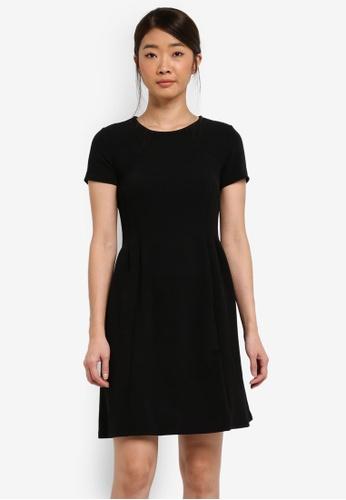 Dorothy Perkins black Petite Black Seamed Fit And Flare Dress 7E9C9AA56D0DA4GS_1