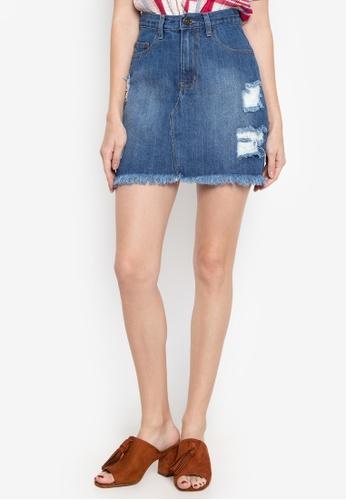 9b0f1e629f Shop NEXT Distressed Mini Skirt Online on ZALORA Philippines