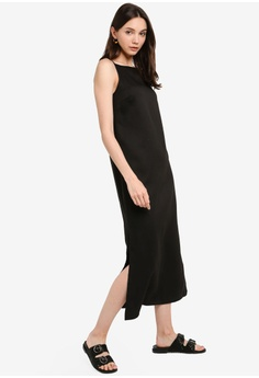 97ad11ce71e4 12% OFF ZALORA BASICS Basic Cami Midi Dress S$ 24.90 NOW S$ 21.90 Sizes XS  S M L XL · Goddiva black Vicky Pattison ...