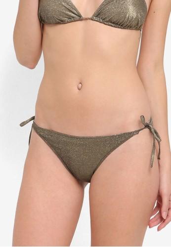 Mango gold Shimmer Bikini Bottoms MA193US56MHFMY_1
