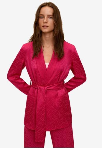 Mango 粉紅色 Bow 西裝外套 F94FFAADD2C689GS_1