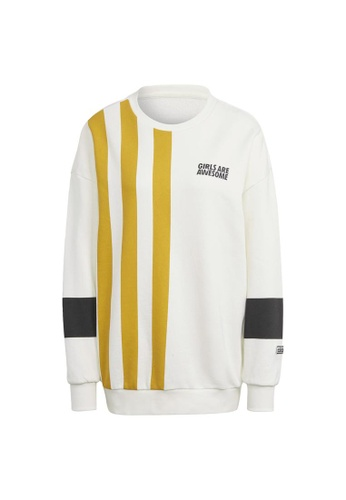 ADIDAS white adidas Originals Girls Are Awesome Sweater 5B2EAAA5A3E766GS_1