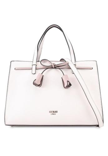 Guess pink Leila Girlfriend Satchel 814EAAC8E57928GS_1