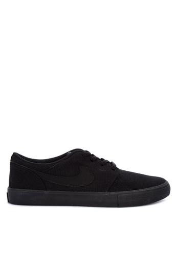 9b110fd4a3f9 Nike black Men s Nike SB Solarsoft Portmore II Skateboarding Shoes  8C6C7SH8E9BDCBGS 1