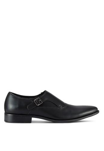 ZALORA black Single Monk Strap Faux Leather Dress Shoes 8E4F8AA7AF0355GS_1