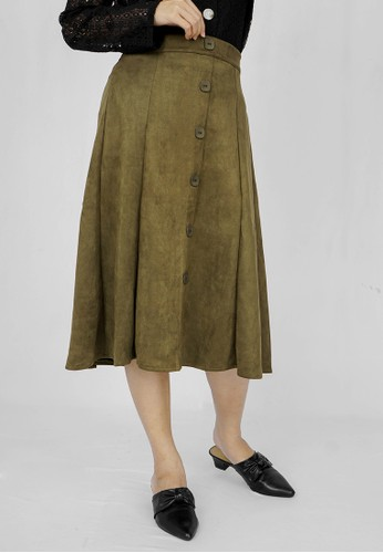 W Stand For Woman green Cambridge Skirt 9E37AAAB2F24E1GS_1