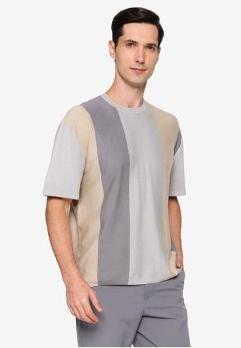URBAN REVIVO grey Casual T-Shirt D322AAA48A988CGS_1