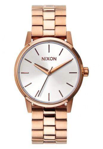 Nixon gold SMALL KENSINGTON ROSEGOLD/WHITE 764F2AC9A45EF3GS_1