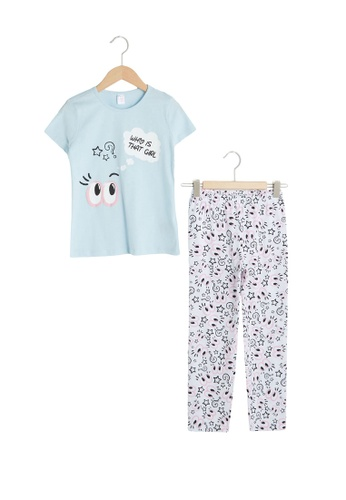 LC Waikiki blue Girls Pajamas Set 428B1KA5D3EEDEGS_1