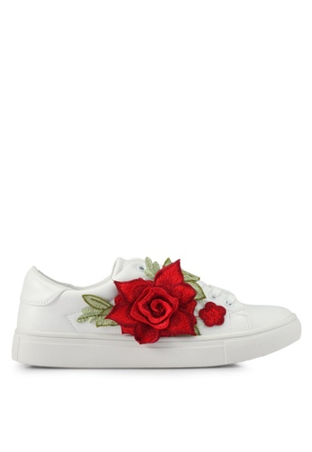 addicts anonymous white Scarlett Flower Applique Sneakers AD479SH0SR60MY_1