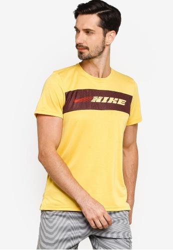 Nike yellow Dri-FIT Superset Sport Clash Tee D2889AA92053A4GS_1