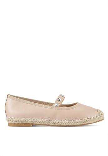 Something Borrowed beige Studded Ballerina Espadrille Flats 3C5F8SH6634DFDGS_1