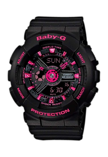 CASIO black Casio Baby-G Hot Pink and Black Resin Watch 05018AC02604FDGS_1