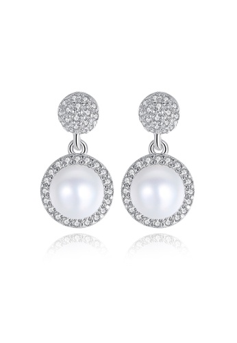 A.Excellence white Premium White Pearl Elegant Earring C4A77AC01C67F0GS_1