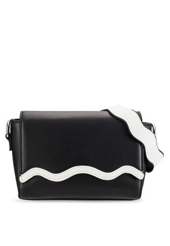 Something Borrowed Wavy Flap Shoulder Bag