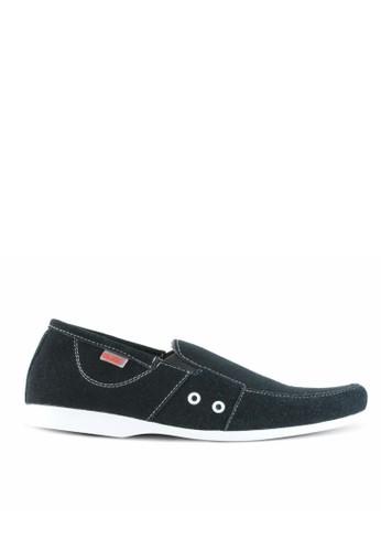 Sogno black Sepatu Slip On Pria GF.7010 F0C30SHC869C47GS_1
