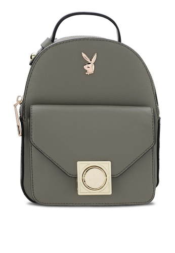PLAYBOY BUNNY grey Playboy Bunny Mini Backpack PL604AC63MUIMY_1
