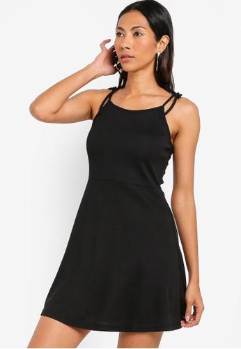 ZALORA BASICS black Basic Rib Cami Dress 23F5CAAA7E2DD7GS_1