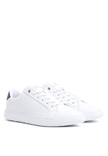 Tommy Hilfiger white Essential Leather Cupsole Sneakers 62437SH9F5C48EGS_1