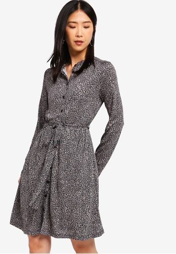 fbb6449726e8 French Connection multi Brunella Meadow Leopard Shirt Dress  36ABAAA8DAE4C8GS_1