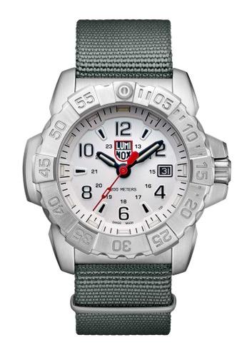 Luminox silver Luminox Navy Seal Steel Grey Nylon Watch 5D3CAAC016588EGS_1