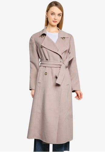 Forever New brown Tilly Felled Trench Coat A26AAAA297D160GS_1