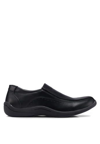Bata black Slide-On Dress Shoes 43A91SH0FD0838GS_1