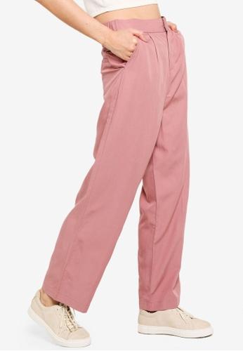 JEANASIS pink Classic Straight Cut Pants 44BFDAAB1E9925GS_1