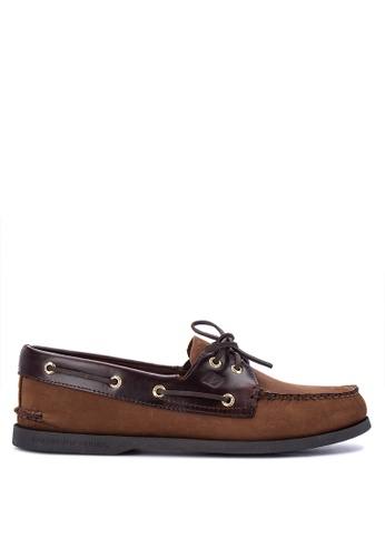 Sperry brown A/O 2-Eye Boat Shoes SP132SH0IJXVPH_1