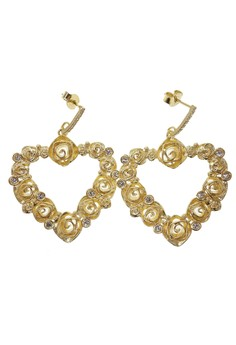 Lavish Heart Earrings