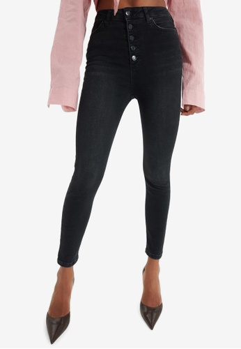 Trendyol black High Waist Skinny Jeans 46769AAE34F621GS_1