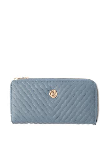 Wild Channel blue Faux Leather Long Wallet A19F2AC1F667FFGS_1