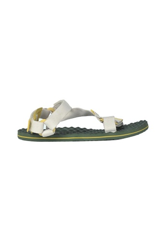 The North Face white TNF W BASE CAMP SWITCHBACK SANDAL VINTAGE WHITE/OLIVENITE YELLOW 212AFSHEE0F5F4GS_1