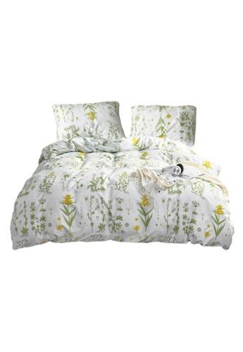 DILAS HOME Botanical Floral Duvet Cover and Pillowcase Set - Queen 4C92BHL27E344BGS_1