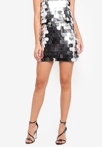 Miss Selfridge black Large Sequin Skirt B321EAA72D6E6CGS_1