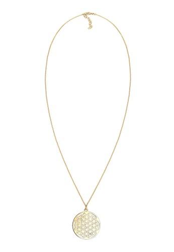 925 生命之花純銀鍍金項鍊,esprit 品牌 飾品配件, 項鍊