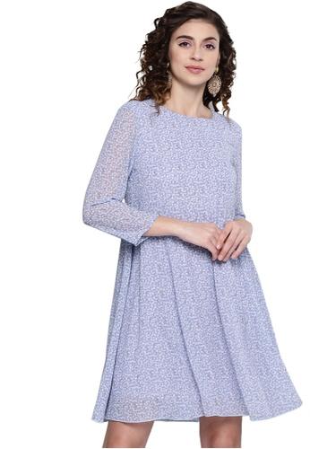 SASSAFRAS purple Lavender Ditsy Floral Trapeze Dress EC650AACA8F855GS_1