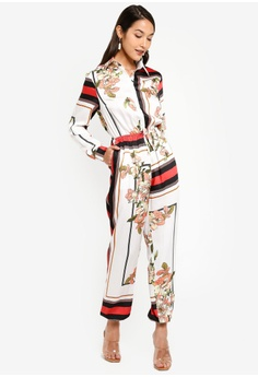 a958295860eb MISSGUIDED white Utility Border Print Floral Jumpsuit CBBDBAADB402BAGS_1