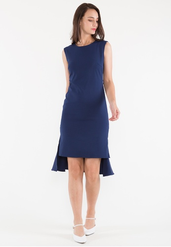 BEBEBEIGE blue BebeBeige Round Neck Sleeveless Evening/Cocktail Dinner Dress 138C8AAF5A4D4DGS_1