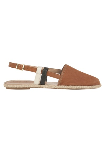 Beira Rio brown Sling Back Flats BE995SH86ESFHK_1
