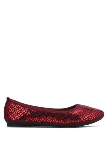 Noveni red Casual Flats NO978SH0RX2FMY_1
